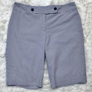 Izod Golf | Blue White Striped Bermuda Shorts 6